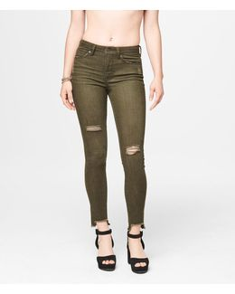 Seriously Stretchy High-waisted Color Wash Jegging
