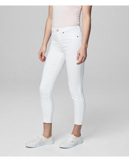 Seriously Stretchy Bleach Wash High-waisted Crop Jegging