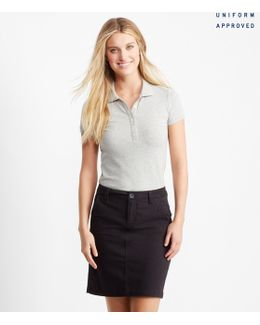 "Solid Pocketed 19"" Uniform Skirt"