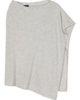 Grey Fine-knit Poncho