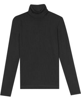 Black Roll Neck Ingrid T-shirt