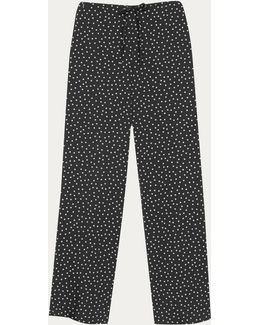 Floral Printed Coulisse Trousers