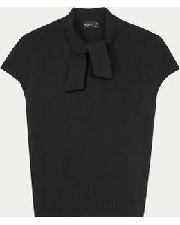 Black Short Sleeves Pullover Margareth