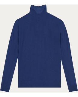 Blue Soft Merinos Wool Pullover Allure