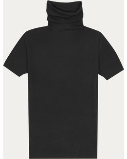 Black Roll Neck Lady Pullover