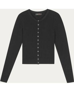 Black Mini Swing Cardigan