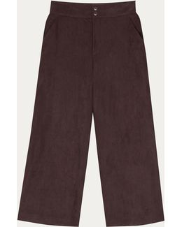 Brown Loose-fitting Tyra Trousers