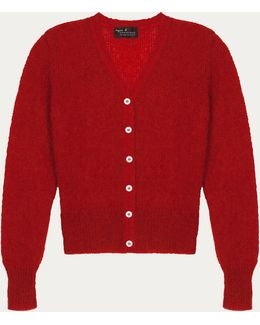 Red Soft And Lightweight Maelys Cardigan