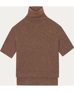 Brown Skate Pullover In Alpaca And Merino Wool