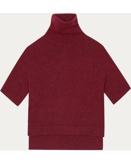 Red Skate Pullover In Alpaca And Merino Wool