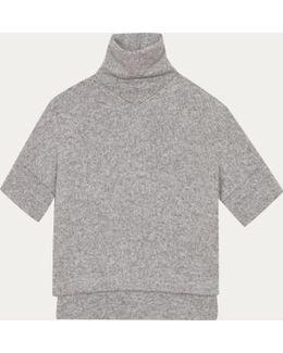 Grey Skate Pullover In Alpaca And Merino Wool