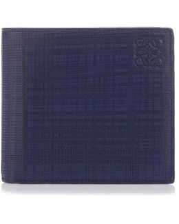 Wallet In Saffiano Blue Navy