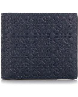 'bifold' Blue Marine Wallet