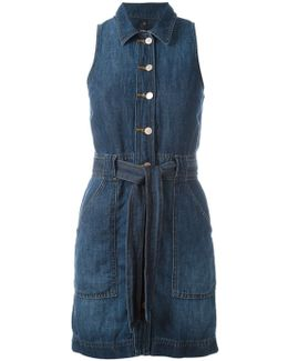 Buttoned Belted Dress