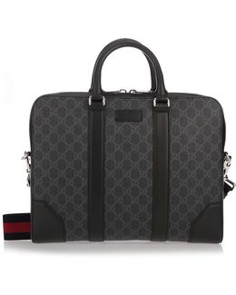 'gg Supreme' Black Briefcase