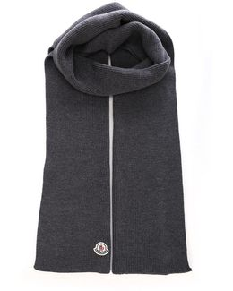 Grey Virgin Wool Scarf