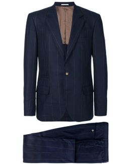 Blue Navy Pinstripe Formal Suit