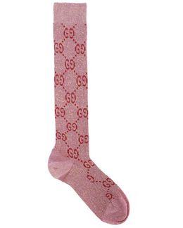 Pink Lurex Gg Socks
