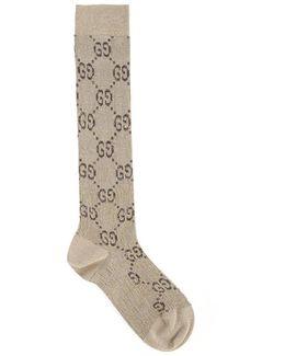 Socks With 'gg' Marrone