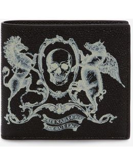 Coat Of Arms Leather Billfold Wallet