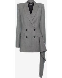 Double Breasted Drape Jacket