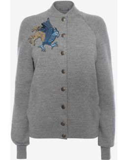Embroidered Knit Jacket