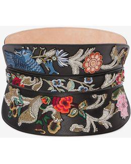 Embroidered Corset Belt