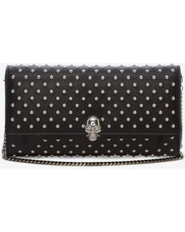 Continental Skull Studded Leather Wallet