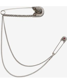 Oversize Safety Pin Brooch
