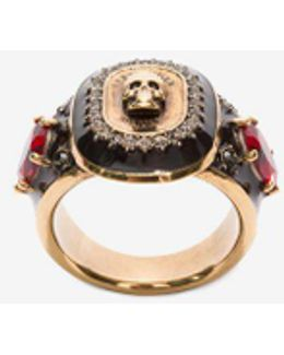 Jewelled Medallion Ring