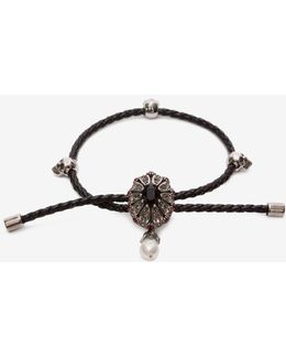 Jewel Charm Nappa Bracelet