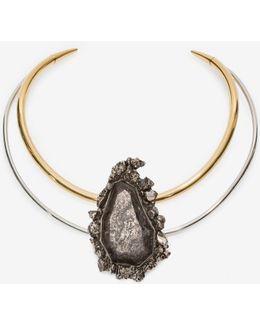 Jeweled Double-hoop Choker