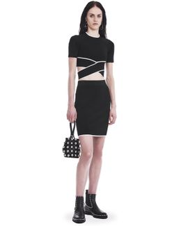 Knit Pencil Skirt With Tipping