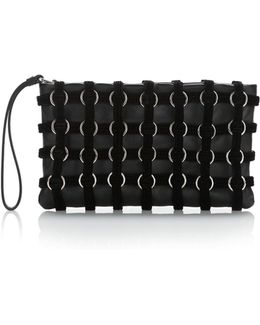 Roxy Cage Pouch In Black Velvet