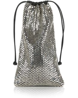 Ryan Dust Bag In Silver Stud Rhinestone