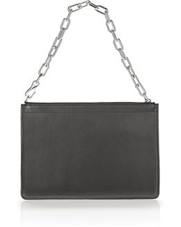 Large Attica Chain Flat Leather Pouch