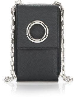 Riot Shoulder Wallet In Matte Black With Rhodium