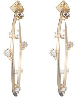 Jagged Crystal Studded Hoop Earring You Might Also Like