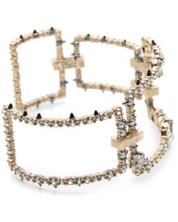 Crystal Encrusted Oversize Link Cuff Bracelet You Might Also Like