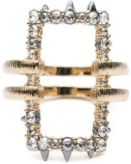 Crystal Encrusted Oversize Link Ring You Might Also Like