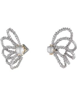 Crystal Lace Orbiting Pearl Post Earrings You Might Also Like