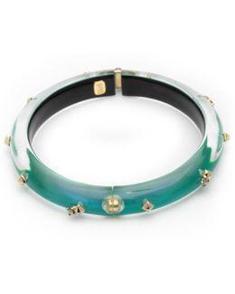 Golden Studded Hinge Bangle Bracelet You Might Also Like