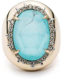 Crystal Encrusted Stone Ring You Might Also Like