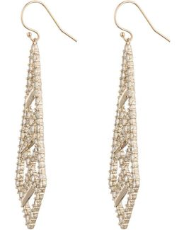 Crystal Encrusted Spiked Lattice Wire Earring You Might Also Like