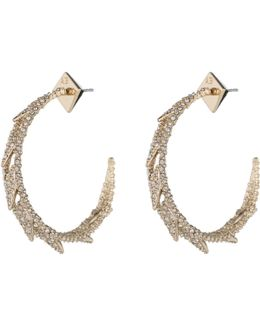 Crystal Encrusted Spiked Lattice Hoop Earring You Might Also Like