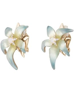 Crystal Accent Petal Flower Clip Earring You Might Also Like