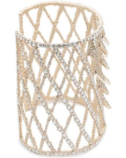 Crystal Encrusted Spiked Lattice Cuff Bracelet You Might Also Like