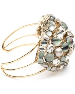 Arrayed Stone Cluster Cuff Bracelet You Might Also Like