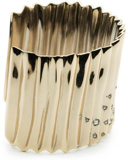 Crystal Studded Pleated Cuff Bracelet You Might Also Like