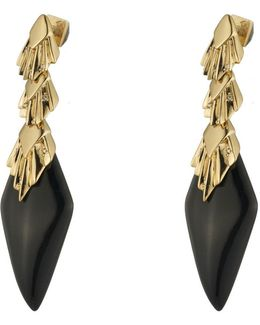 Crystal Studded Pleated Dangling Post Earring You Might Also Like